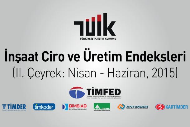 TÜİK: İnşaat Ciro ve Üretim Endeksleri, II. Çeyrek: Nisan - Haziran, 2015