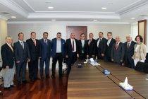 TİMFED ve TİMDER Yönetim Kurulu İstanbul Büyükşehir Belediyesi Genel Sekreteri Dr. Hayri Baraçlı'yı Ziyaret Etti