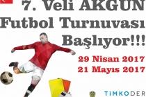 7. VELİ AKGÜN FUTBOL TURNUVASI BAŞLIYOR!
