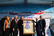 NG Kütahya Seramik'in 15 Temmuz Şehitler Seramik Fabrikası Cumhurbaşkanı Erdoğan Tarafından Açıldı