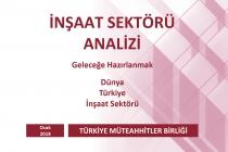 Türkiye Müteahhitler Birliği, İnşaat Sektörü Ocak 2018 Analizini Açıkladı