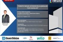Türkiye İMSAD Gündem Buluşmaları Başlıyor