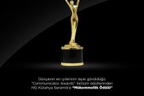"NG Kütahya Seramik'e Communicator Awards'tan ""Mükemmellik"" Ödülü"
