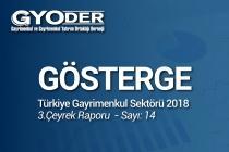 """""""GYODER Gösterge"""" Türkiye Gayrimenkul Sektörü 2018 Yılı 3. Çeyrek Raporu Yayınlandı"""