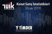 Türkiye'de 2019 Ocak ayında 72 937 konut satıldı