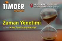 TİMDER Akademi'de 07 Ocak Salı; Zaman Yönetimi