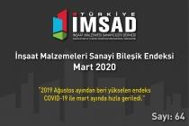 Türkiye İMSAD İnşaat Malzemeleri Sanayi Bileşik Endeksi Mart Ayı Sonuçları Açıklandı