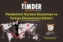 TİMDER Akademi'de 16 Şubat Salı; Pandeminin Küresel Ekonomiye ve Türkiye Ekonomisine Etkileri