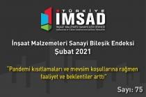 'Türkiye İMSAD İnşaat Malzemeleri Sanayi Bileşik Endeksi' Şubat Ayı Sonuçları Açıklandı