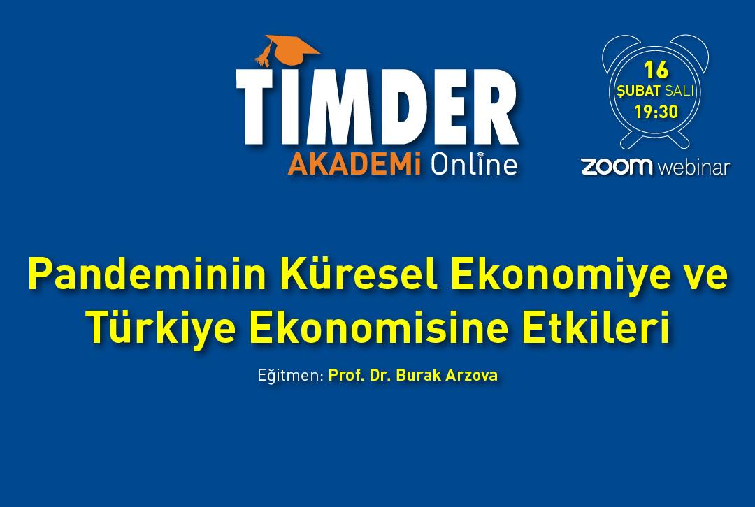 Pandeminin Küresel Ekonomiye ve Türkiye Ekonomisine Etkileri