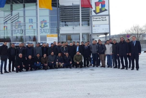 Almanya Münih'te düzenlenen BAU 2017 Fuarına 46 kişilik heyetle ziyaret iş gezisi düzenledik.