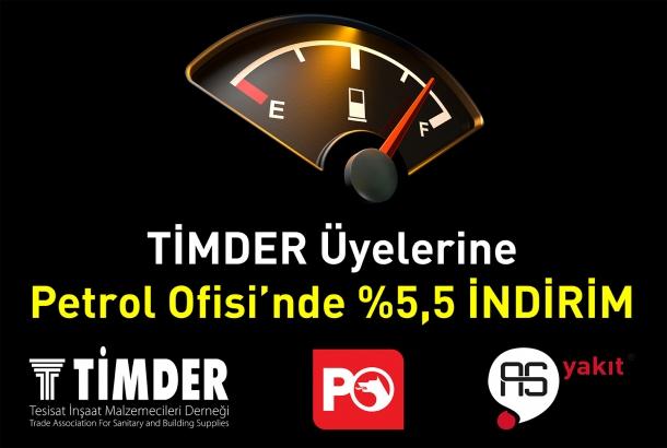 TİMDER'den Üyelerine Petrol Ofisi'nde %5,5 İNDİRİM Avantajı
