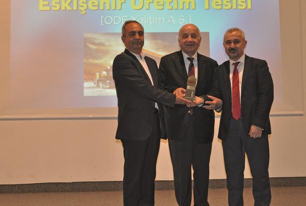 ODE Yalıtım Eskişehir Üretim Tesisine 'Yılın Yatırımı' Ödülü