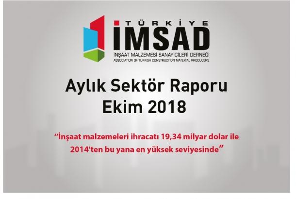 Türkiye İMSAD Ekim 2018 Sektör Raporu Açıklandı