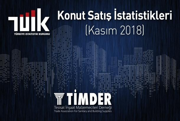 Türkiye'de 2018 Kasım Ayında 89 626 Konut Satıldı