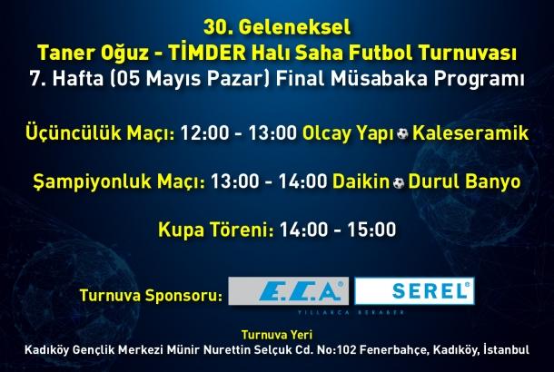 30. Geleneksel Taner Oğuz – TİMDER Halı Saha Futbol Turnuvası'nda Final