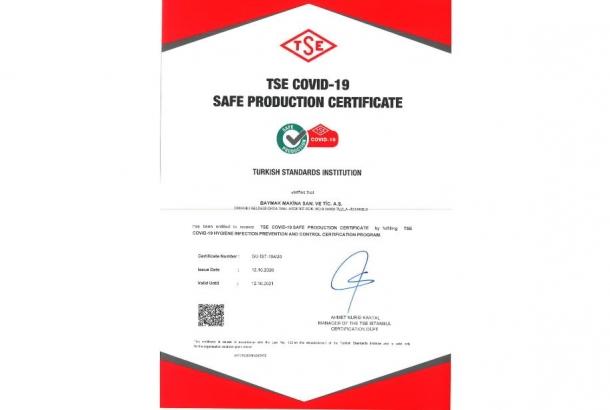 Baymak'a TSE Onaylı Güvenli Üretim Belgesi