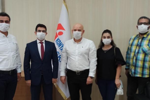 Konya Vergi Dairesi Başkanı Adem Güngör'ü ziyaret ettik.