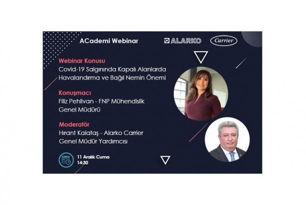Alarko Carrier'ın ACademi Webinarları Devam Ediyor