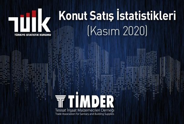 Türkiye'de 2020 Kasım Ayında 112 Bin 483 Konut Satıldı