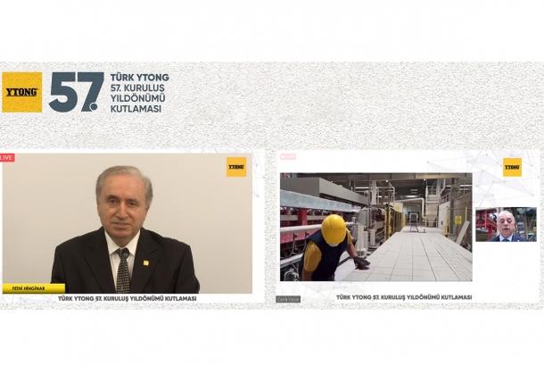 Türk Ytong 57'nci Yılını Online Törenle Çalışanlarıyla Birlikte Kutladı