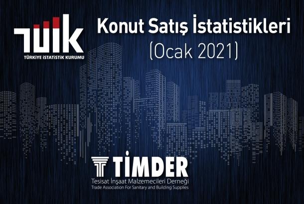 Türkiye'de 2021 Ocak Ayında 70 Bin 587 Konut Satıldı