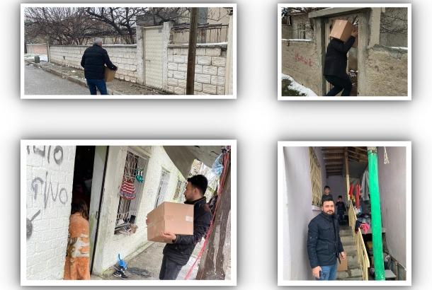 KONTİMDER ihtiyaç sahiplerine yardım eli uzatmaya devam ediyor