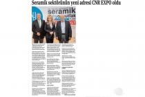 Ekonomi Gazetesi: Seramik Sektörünün Yeni Adresi CNR EXPO Oldu