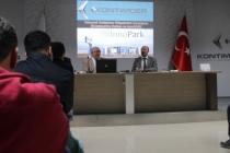 İnnopark Genel Müdürü Prof. Dr. Fatih Botsalı, 'İnovasyon ve Teknoloji Destekleri' konulu sunum yaptı