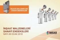 Türkiye İMSAD İnşaat Malzemeleri Sanayi Bileşik Endeksi Ocak Ayı Sonuçları Açıklandı