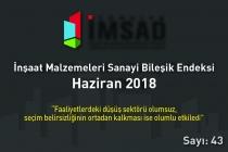 Türkiye İMSAD 'Sanayi Malzemeleri Bileşik Endeksi Haziran Ayı Sonuçları Açıklandı
