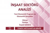 Türkiye Müteahhitler Birliği, İnşaat Sektörü Ekim 2018 Analizini Yayınladı
