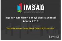 """""""Türkiye İMSAD İnşaat Malzemeleri Sanayi Bileşik Endeksi"""" Aralık Ayı Sonuçları Açıklandı"""