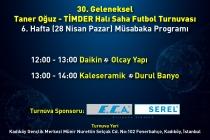 30. Geleneksel Taner Oğuz – TİMDER Halı Saha Futbol Turnuvası'nda Yarı Final