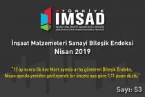 Türkiye İMSAD İnşaat Malzemeleri Sanayi Bileşik Endeksi Nisan 2019 Sonuçları Açıklandı