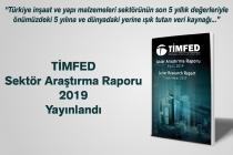TİMFED Sektör Araştırma Raporu (Eylül 2019) Yayınlandı