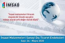Türkiye İMSAD İnşaat Malzemeleri Sanayi Dış Ticaret Endeksi Mayıs 2020 Sonuçları Açıklandı