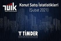 Türkiye'de 2021 Şubat Ayında 81 Bin 222 Konut Satıldı