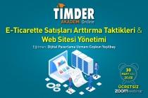 TİMDER Akademi'de 30 Mart Salı; E-Ticarette Satışları Arttırma Taktikleri ve Web Sitesi Yönetimi