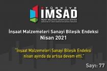 'Türkiye İMSAD İnşaat Malzemeleri Sanayi Bileşik Endeksi' Nisan Ayı Sonuçları Açıklandı
