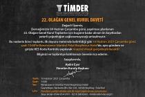 TİMDER 22.Olağan Genel Kurulu 16 Haziran'da Gerçekleşecek