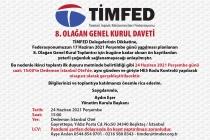 TİMFED 8. Olağan Genel Kurulu 17 Haziran'da Gerçekleşecek