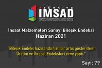 'Türkiye İMSAD İnşaat Malzemeleri Sanayi Bileşik Endeksi' Haziran Ayı Sonuçları Açıklandı