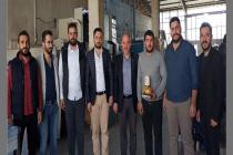 Dernek üyemiz Mehmet Çakmak işyerinde ziyaret edildi