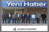 Yeni Haber Gazetesi Genel Yayın Yönetmeni Lokman Koyuncuoğlu, Genel Müdür Ahmet Ergan, Yazı İşleri Müdürü Seyfullah Koyuncu ziyaret edildi