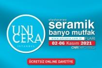 Unicera Fuarı İstanbul 2-6 kasım 2021